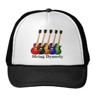 Guitarras eléctricas de la dinastía de la secuenci gorras de camionero