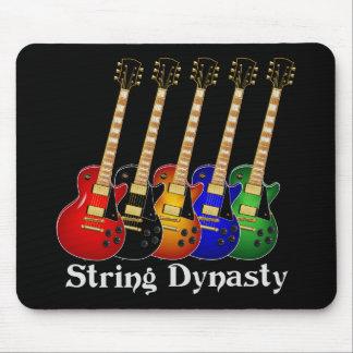 Guitarras eléctricas de la dinastía de la secuenci tapetes de ratón