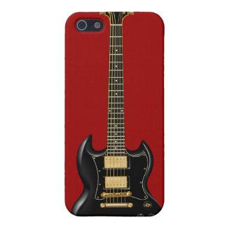 Guitarras eléctricas del heavy (negro) iPhone 5 fundas