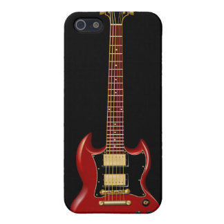 Guitarras eléctricas del heavy (rojas) iPhone 5 cárcasa
