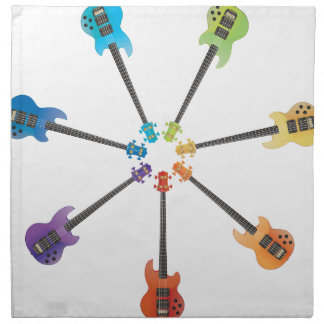 Guitarras eléctricas servilletas de papel
