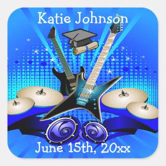 Guitarras eléctricas, tambores y fiesta azules del