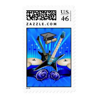 Guitarras eléctricas, tambores y fiesta azules del sello