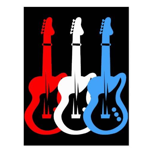guitarras eléctricas tarjetas postales
