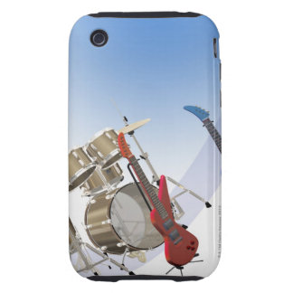 Guitarras eléctricas y una batería carcasa resistente para iPhone