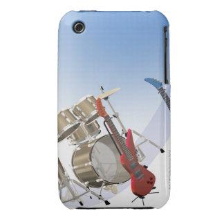 Guitarras eléctricas y una batería funda para iPhone 3
