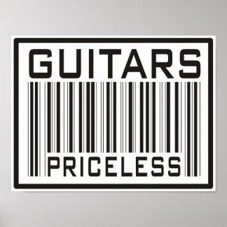 Guitarras inestimables póster