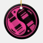 Guitarras rosadas y negras de Yin Yang Ornamentos Para Reyes Magos