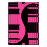Guitarras rosadas y negras de Yin Yang Tarjetón