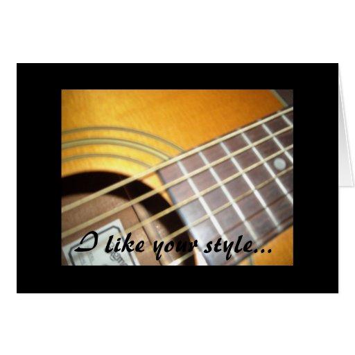 Guitarras - tengo gusto de su estilo… tarjeta pequeña