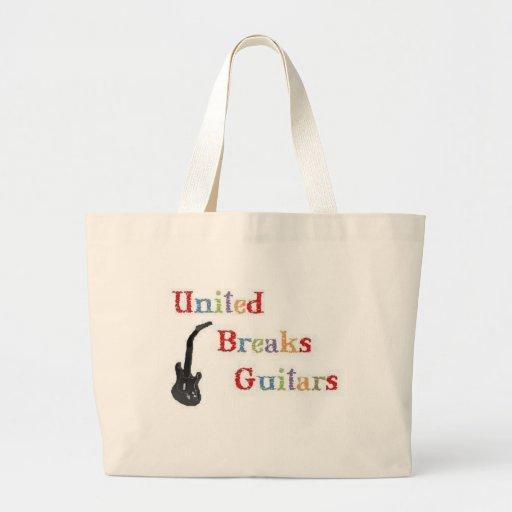 Guitarras unidas de las roturas bolsas de mano