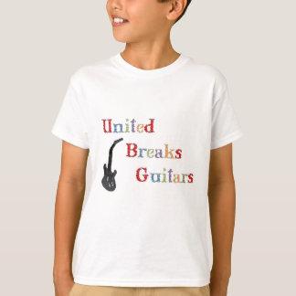 Guitarras unidas de las roturas playera