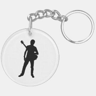 """""""Guitarrista 1"""" regalos y productos del diseño Llavero Redondo Acrílico A Doble Cara"""