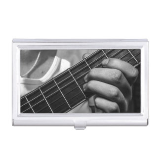 Guitarrista 3 caja de tarjetas de negocios