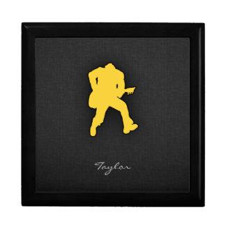 Guitarrista ambarino amarillo cajas de recuerdo