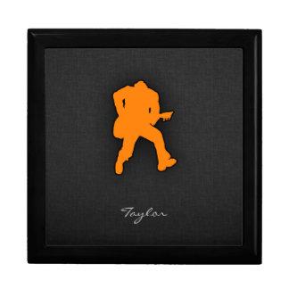 Guitarrista anaranjado caja de recuerdo