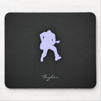 Guitarrista azul de la lavanda tapete de raton