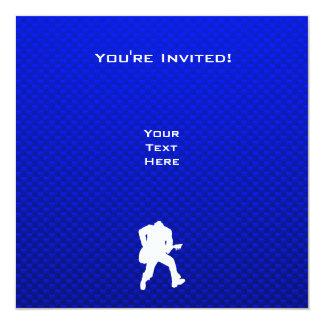 """Guitarrista azul invitación 5.25"""" x 5.25"""""""
