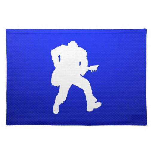Guitarrista azul manteles