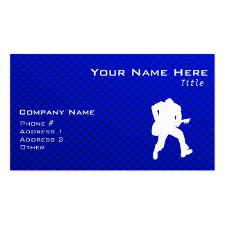 Guitarrista azul tarjetas de visita