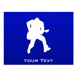 Guitarrista azul tarjetas postales