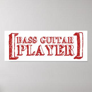 Guitarrista bajo póster