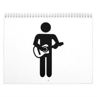 Guitarrista de la banda calendario