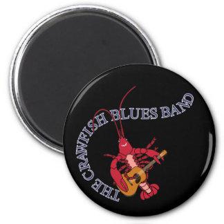 Guitarrista de la banda de azules de los cangrejos imán redondo 5 cm