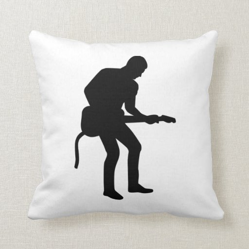 Guitarrista de la estrella del rock cojin
