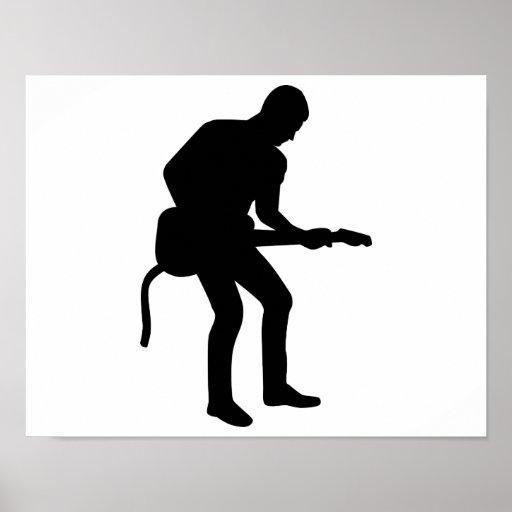 Guitarrista de la estrella del rock posters