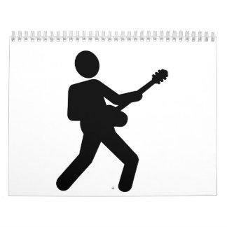 Guitarrista de la guitarra eléctrica calendarios
