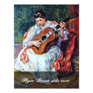 Guitarrista de Pierre-Auguste Renoir Tarjetas Publicitarias