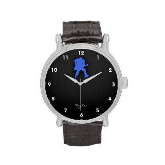 Guitarrista del azul real reloj
