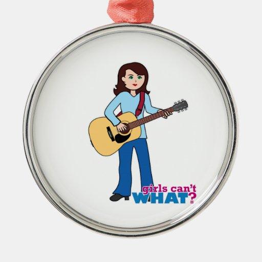Guitarrista del chica ornamentos para reyes magos