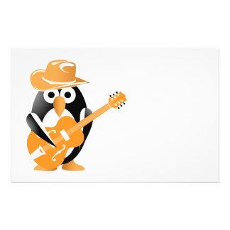 """Guitarrista del pingüino folleto 5.5"""" x 8.5"""""""