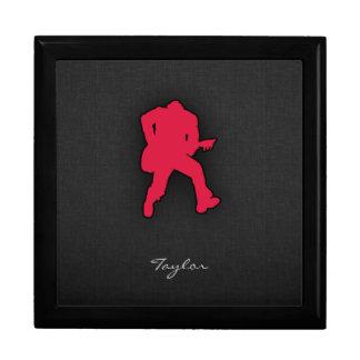 Guitarrista del rojo carmesí cajas de joyas