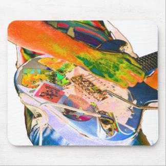Guitarrista, diseño psychadelic de la música de lo mouse pads