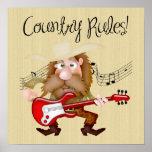 Guitarrista divertido de la música country poster