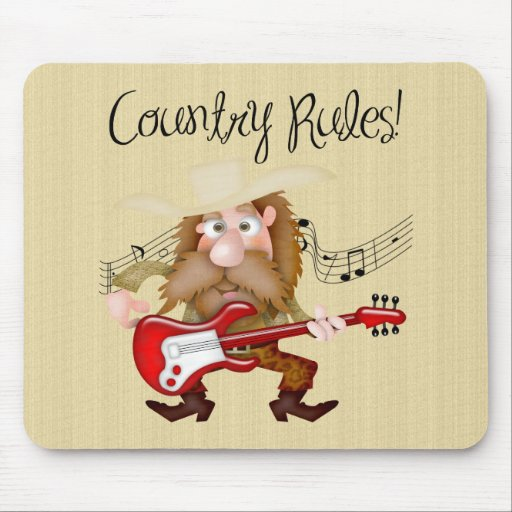 Guitarrista divertido de la música country tapete de ratón