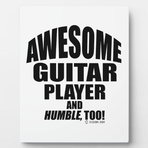 Guitarrista impresionante placas