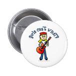 Guitarrista ligero del chica pins
