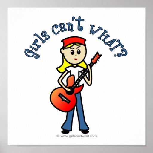 Guitarrista ligero del chica poster