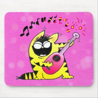 Guitarrista loco del gato mouse pad