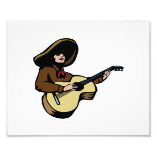 guitarrista mexicano brown.png impresión fotográfica
