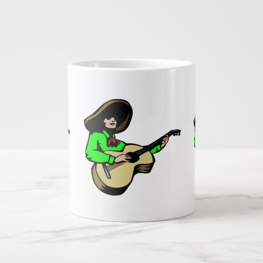 guitarrista mexicano green.png taza extra grande