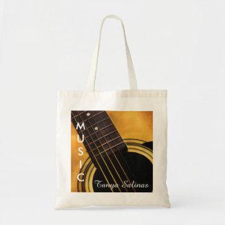 Guitarrista personalizado bolso del nombre el | de bolsa tela barata
