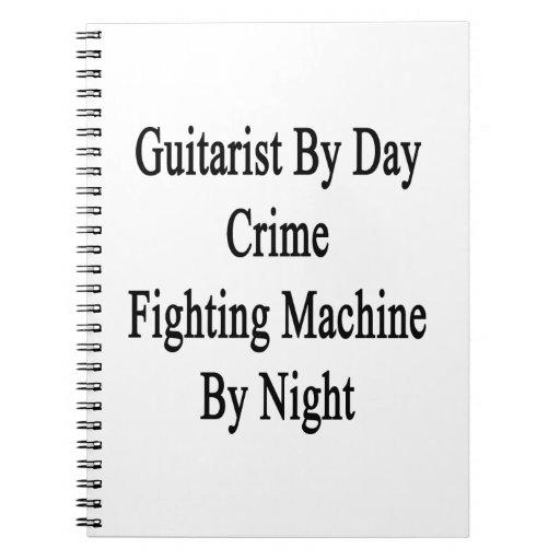 Guitarrista por la máquina que lucha del crimen de libro de apuntes