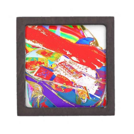 guitarrista psychadelic colorido caja de joyas de calidad