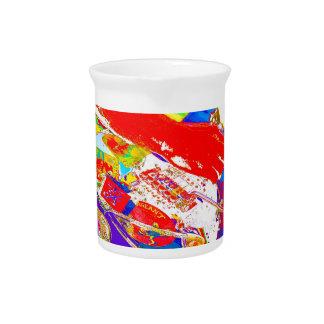 guitarrista psychadelic colorido jarras para bebida