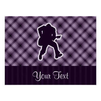 Guitarrista púrpura póster